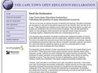 Cape Town Open Education Declaration. Unlocking the promise of open educational resources